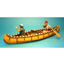 CAN02 French Militia in Canoe